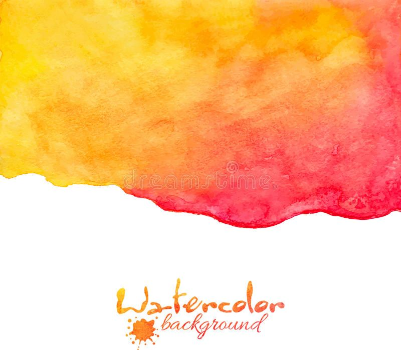 Orange And Red Watercolor Vector Background Orange And Red