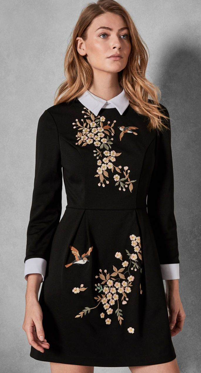 What To Wear To A Late Winter Wedding Early Spring Wedding Guest Outfits If Attending A Wedd Collar Dress Dress Clothes For Women Wedding Guest Outfit Spring [ 1273 x 685 Pixel ]