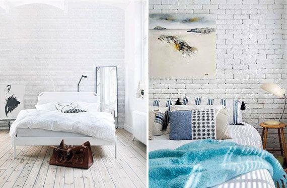 dormitorio pared de ladrillo blanco 1 paredes de ladrillo blancas en el dormitorio - Pared Ladrillo Blanco