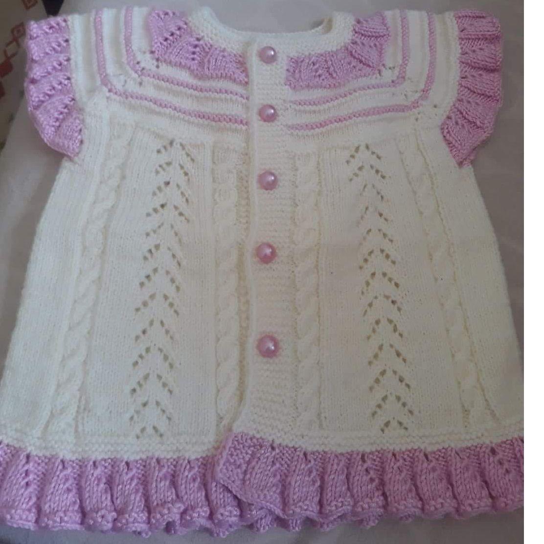 Yakadan Başlama Küçük Deniz Dalgası Örneğinde Kurdele Süslemeli Çocuk Elbisesi Yapımı. 1 yaş 59