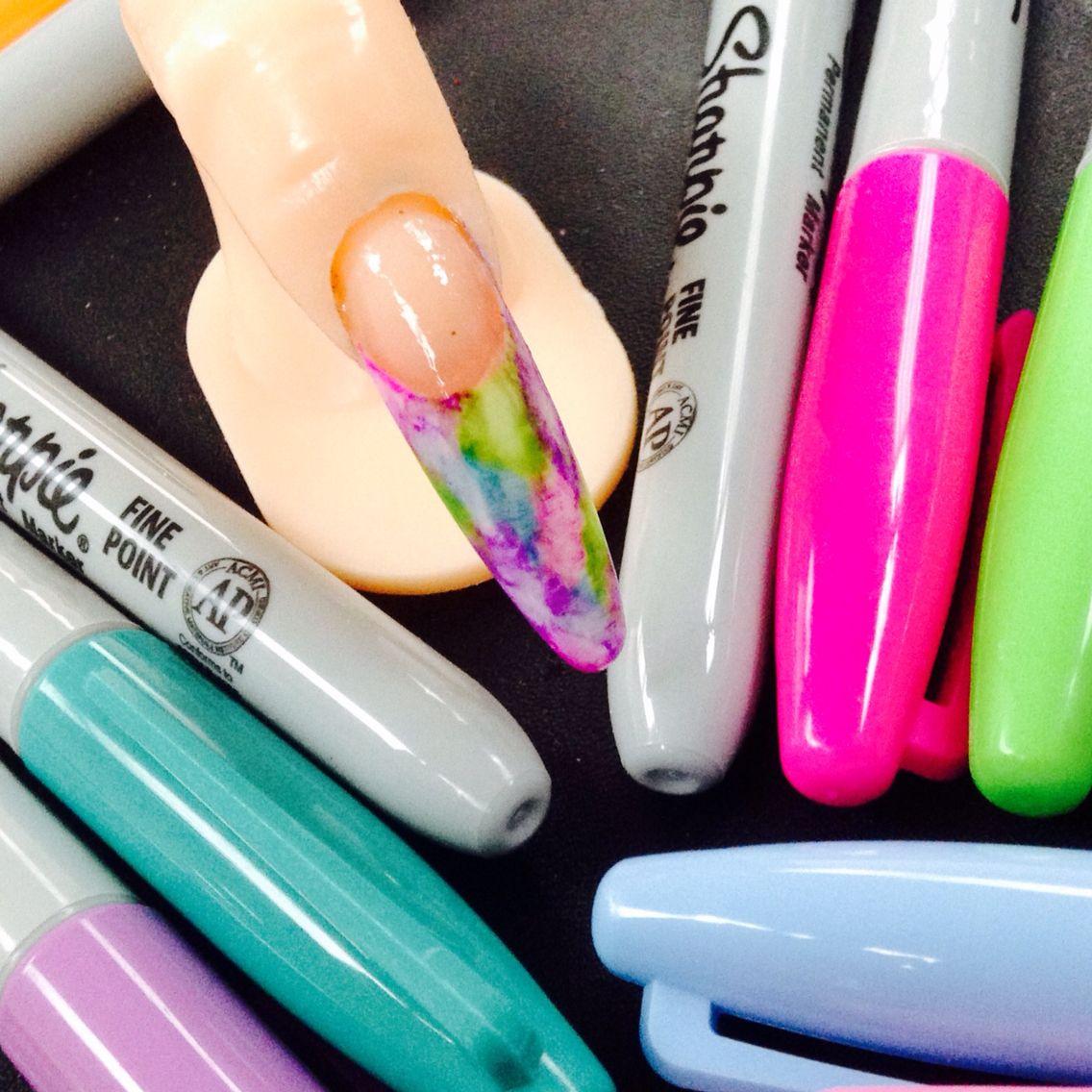 Dorable Bolígrafo Sharpie Arte De Uñas Imágenes - Ideas de Diseño de ...