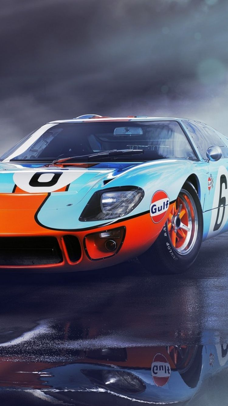 Download Wallpaper 750x1334 Ford Gt40 Front View Sports Car Iphone 6 Hd Background Ford Gt40 Ford Racing Gt40