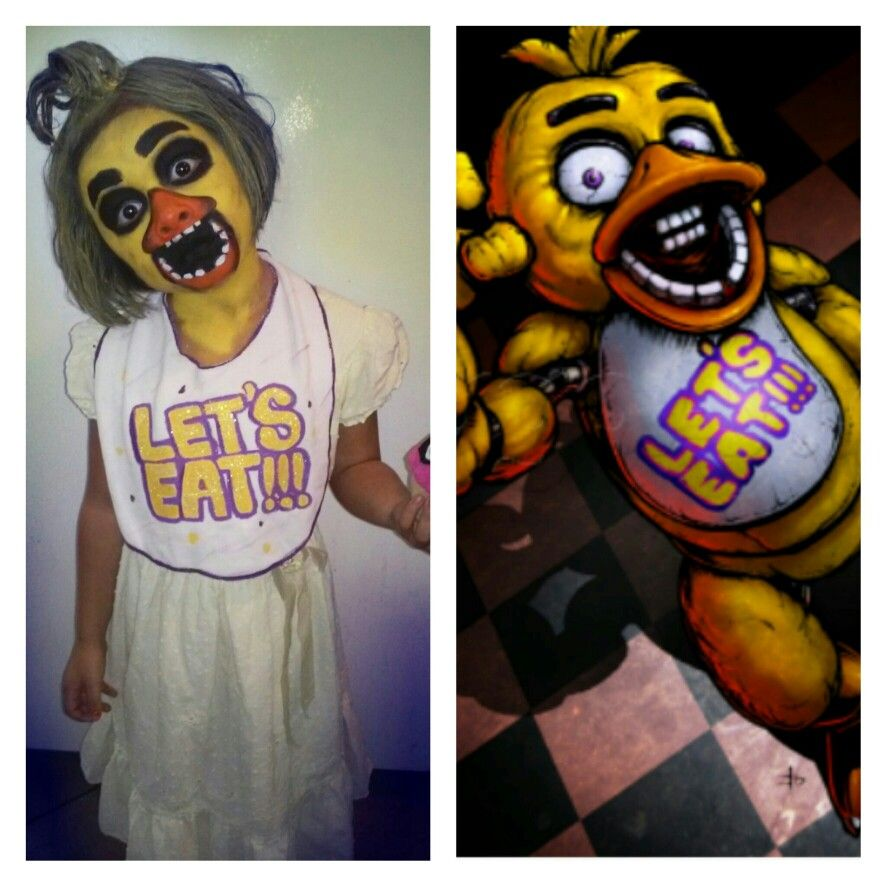 Five nights at freddys dress up game - Five Nights At Freddy S Face Paint Chica Costume Cosplay