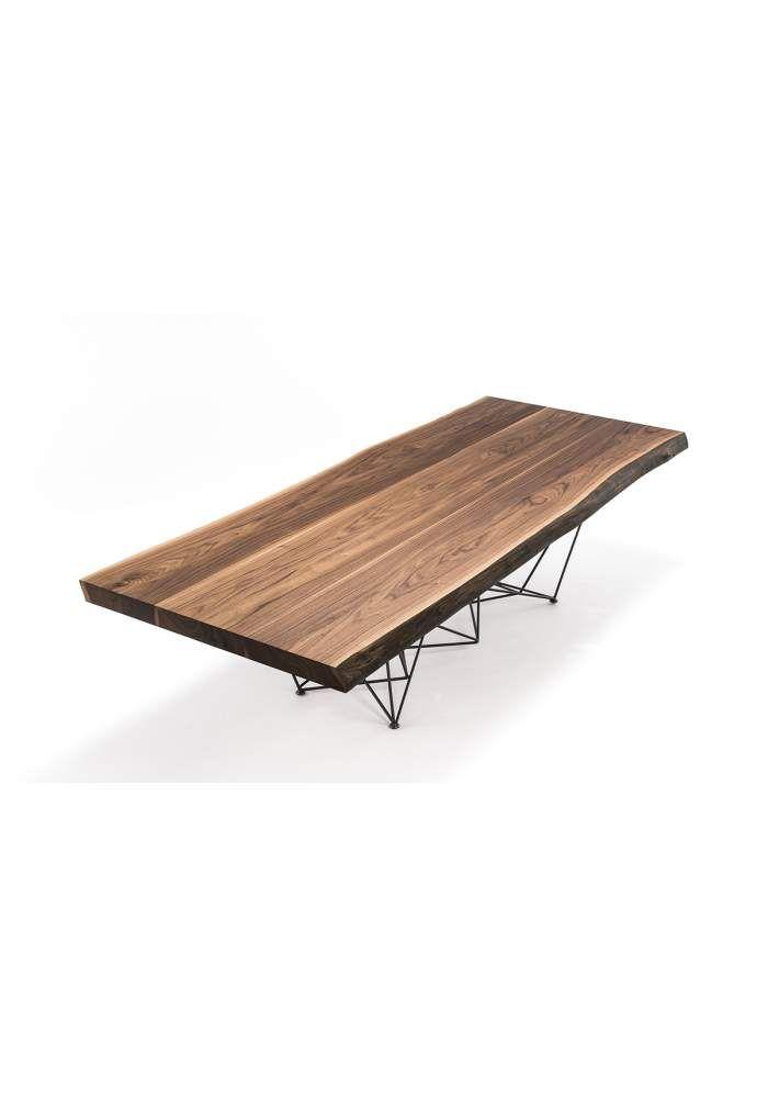Basi Per Tavoli In Legno.Tavoli Da Cucina Cattelan Gordon Deep Wood Con Base In Acciaio