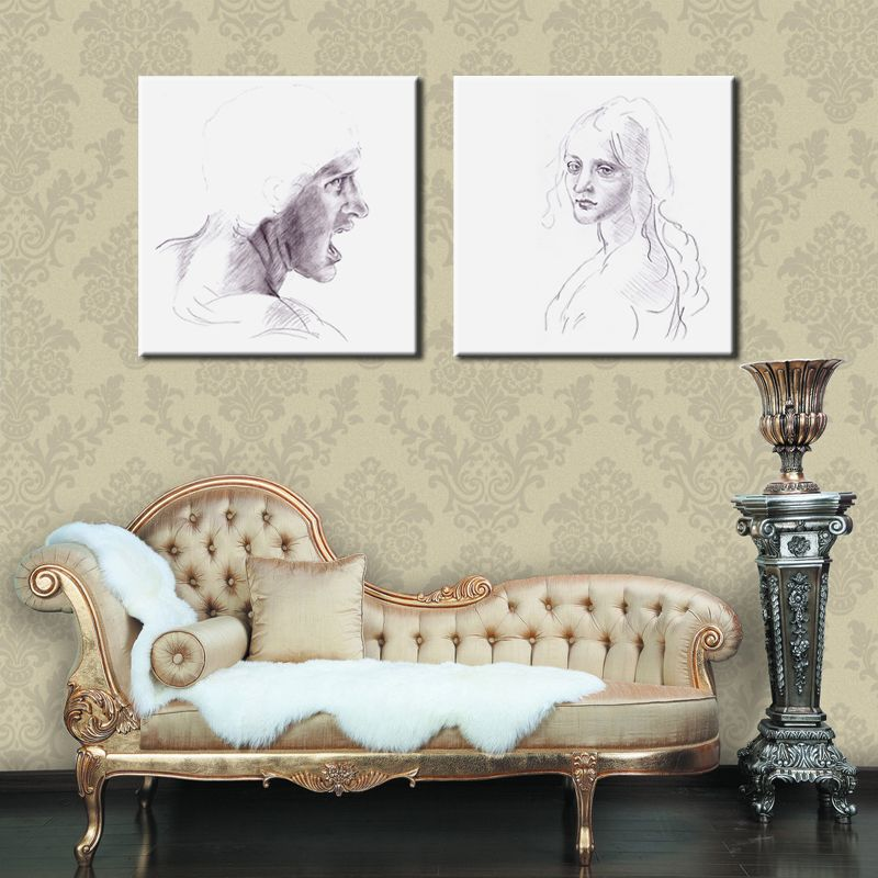 Print your own drawings or photographs on Canvas. Order this item from http://www.indesignwallart.com/2_Panel_Square_Shaped_Personalised_Canvas_p/ca_p2_0002.htm and send us your order ID and images.