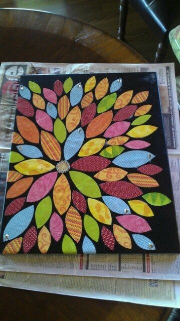 Diy Scrapbook Paper Collage Art Canvas Art With Scrapbook Paper