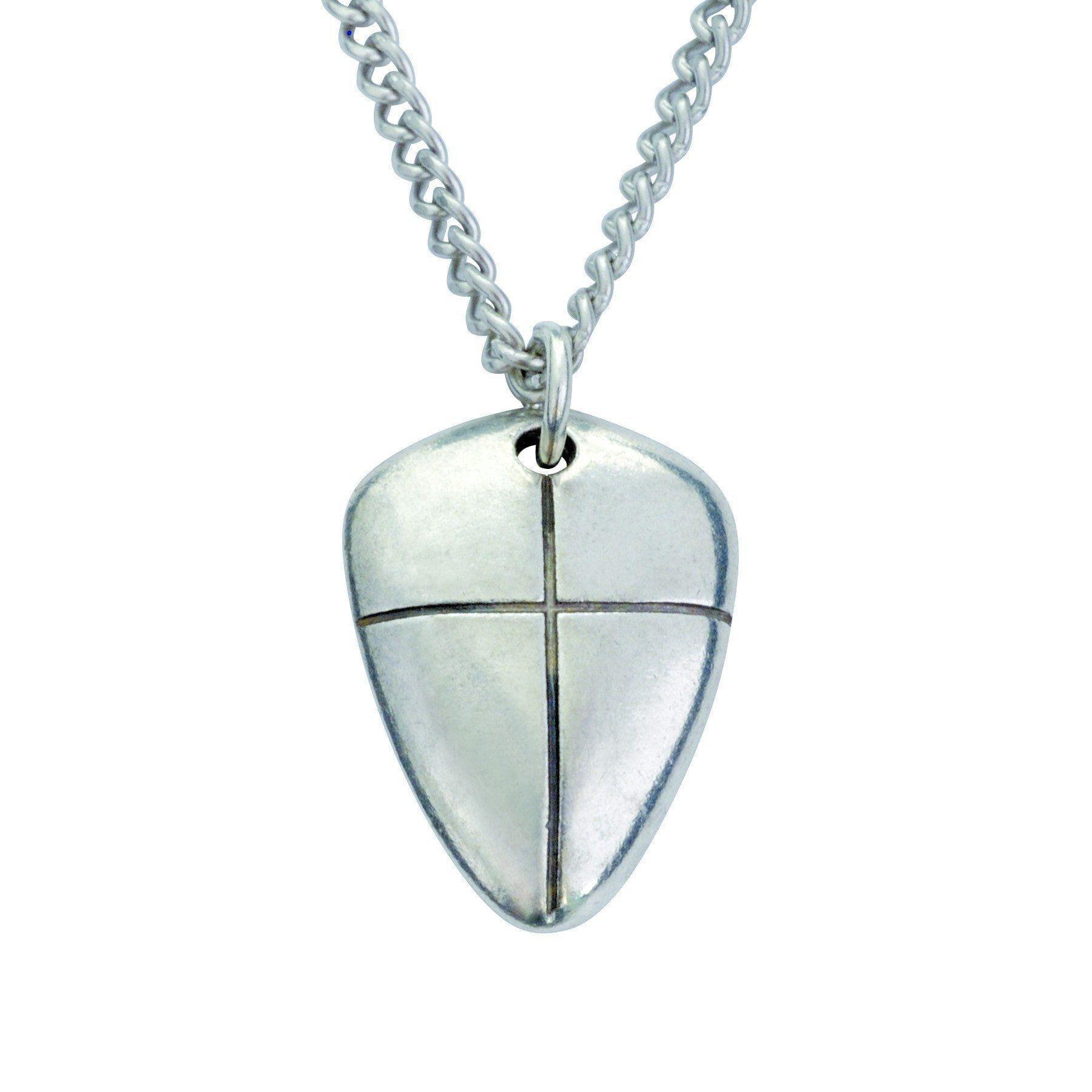 Christian necklace small shield of faith wcross christian aloadofball Images