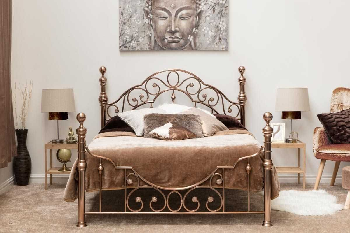 Canterbury Vintage Antique Brass Metal Bed Frame Double King