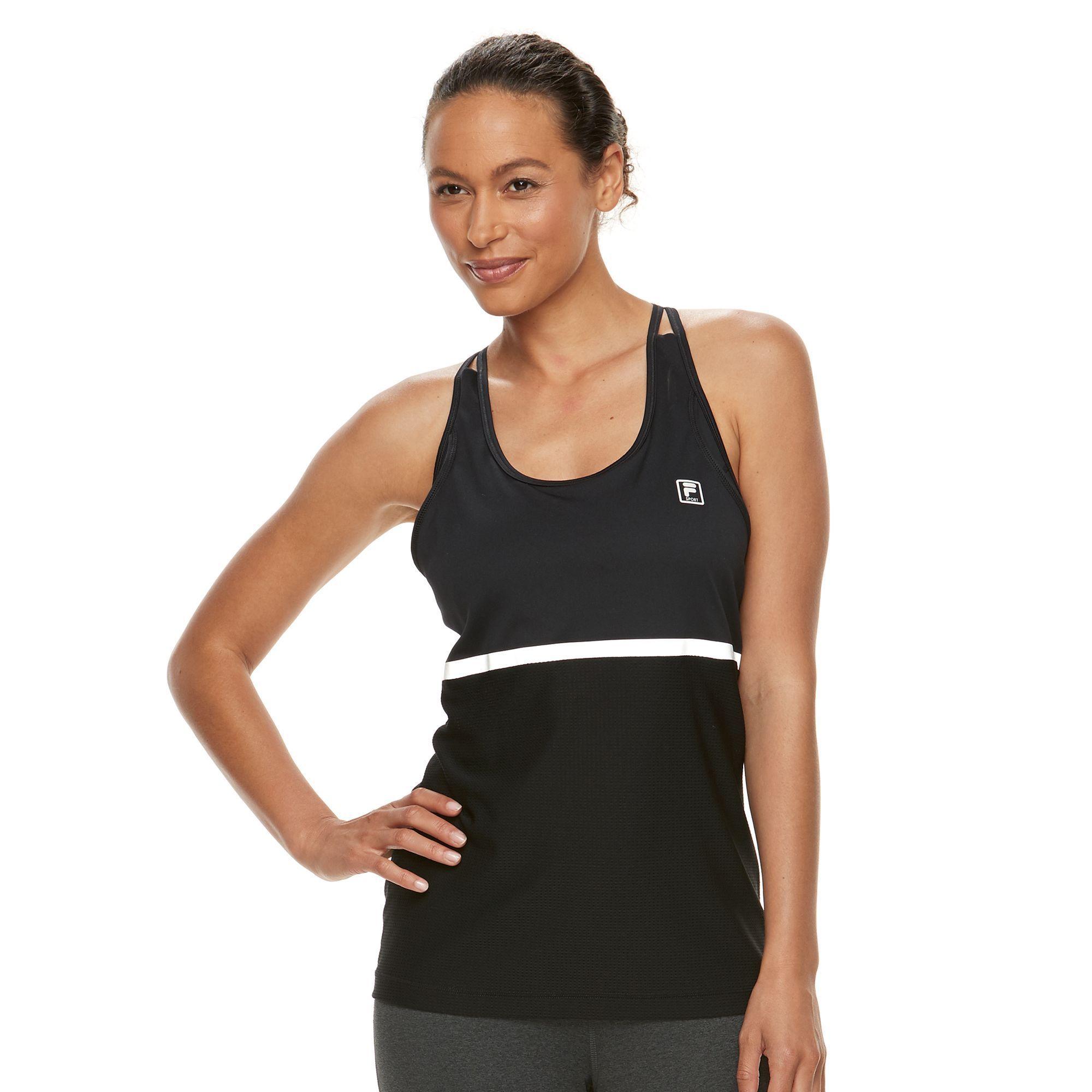 Women's FILA SPORT® 2in1 Sports Bra & Racerback Tank Top