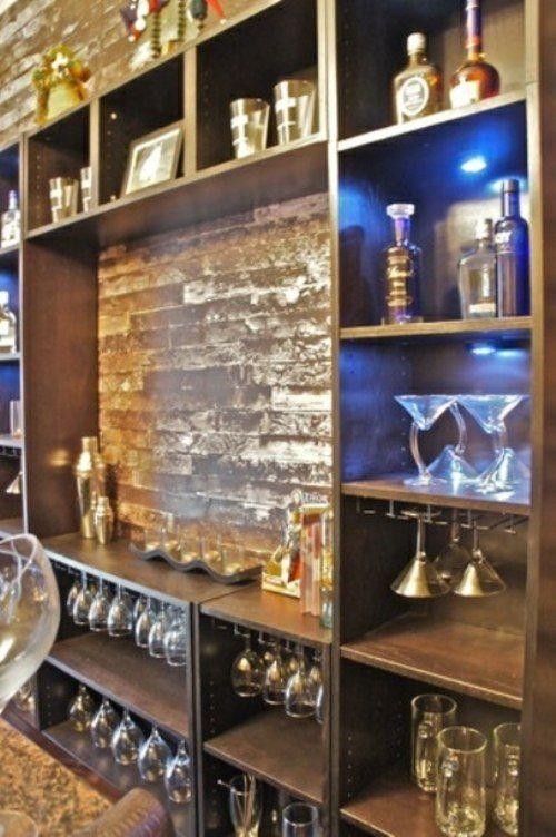 30 id es de meuble bar pour votre int rieur coin bar salon pinterest cava. Black Bedroom Furniture Sets. Home Design Ideas