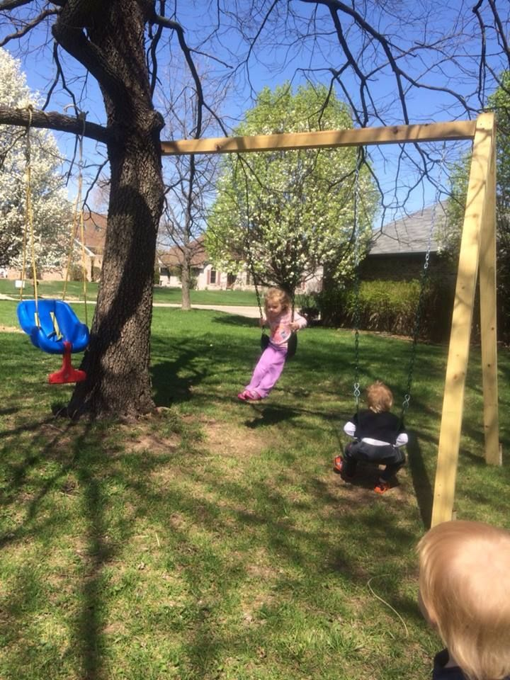 Simple To Do When There Aren T Enough Branches Tree Swing Dream Backyard Backyard Swings