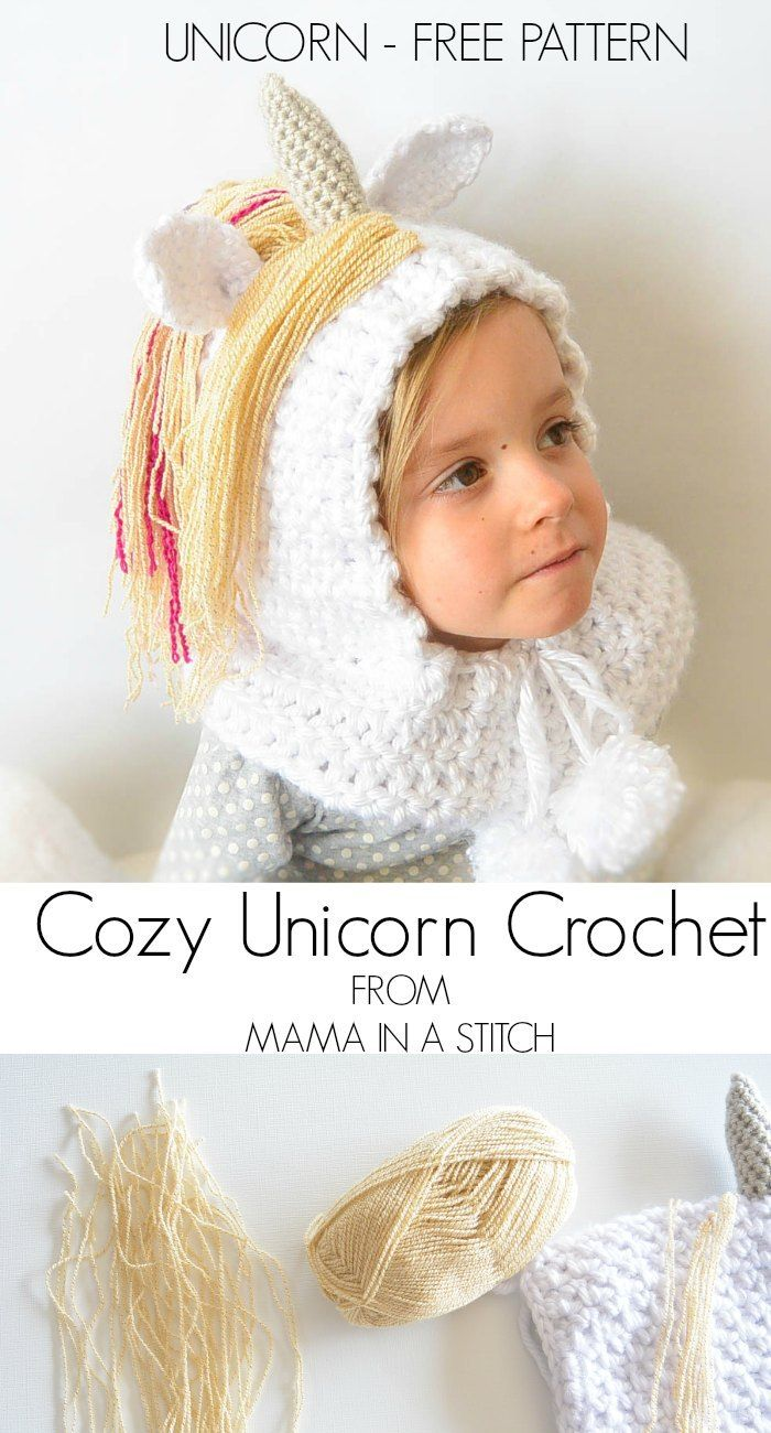 Toddler Magical Unicorn Crochet Hood By Jessica - Free Crochet ...