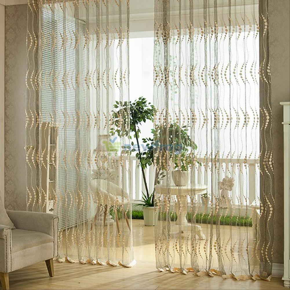gbp door window curtain drape panel scarf valances sheer