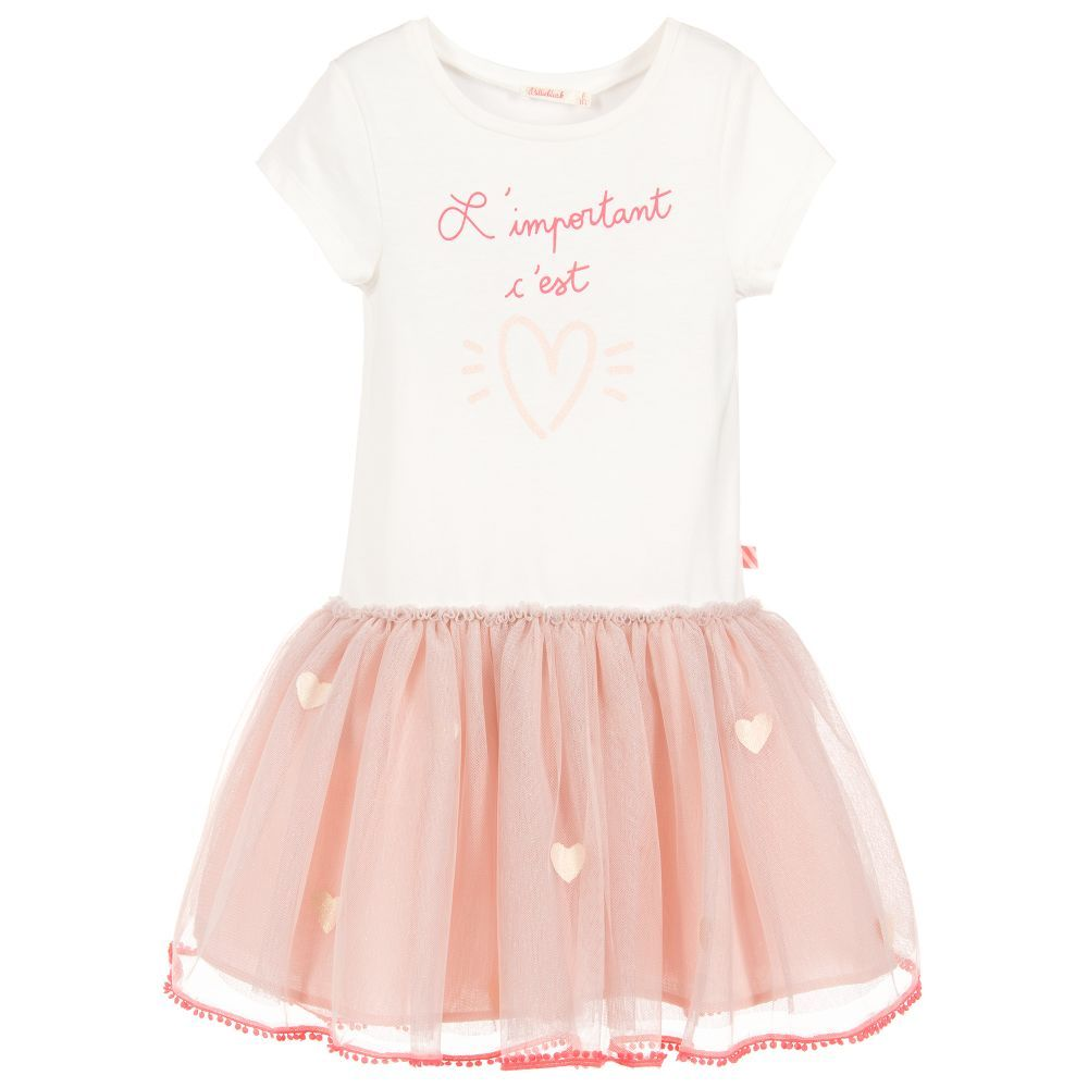 f3c8267822bf Girls pink and white dress from Billieblush. The top is made in soft ...
