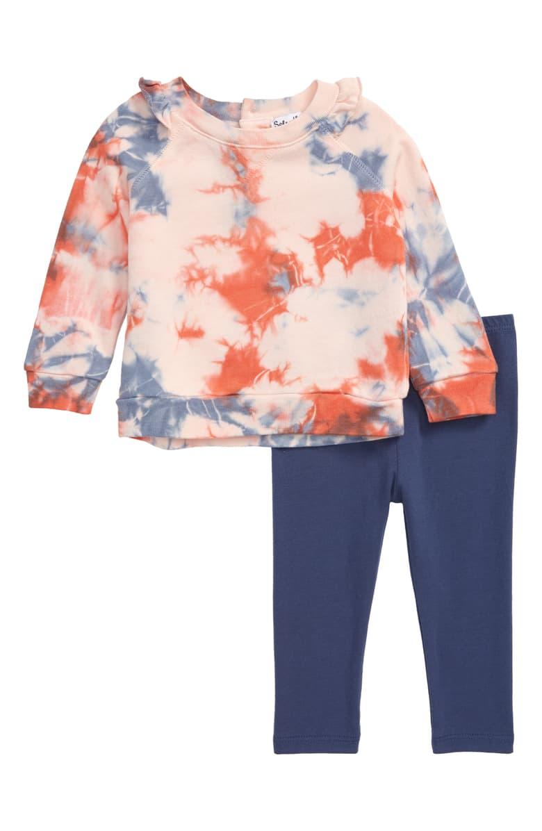 Splendid Tie Dye Sweatshirt Leggings Set Baby Nordstrom Tie Dye Leggings Tie Dye Sweatshirt Clothes [ 1196 x 780 Pixel ]