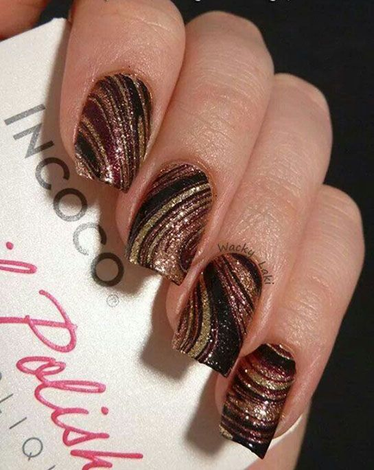 Nail Art Idea Diy Nails Nail Designs I Love These Copper Nails Designs Swirl Nail Art Brown Nails Design