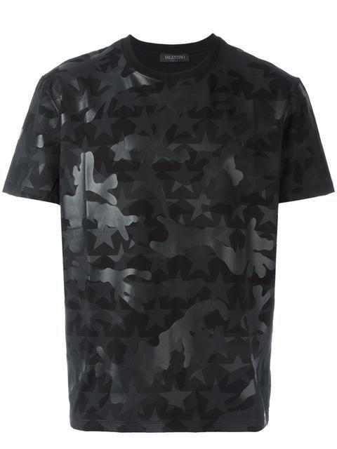 Shop Valentino Rockstud Camustars T-shirt.