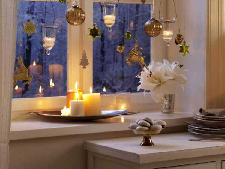 Fensterbank Dekorieren fensterbank dekorieren winter deko mit kerzen winter deko