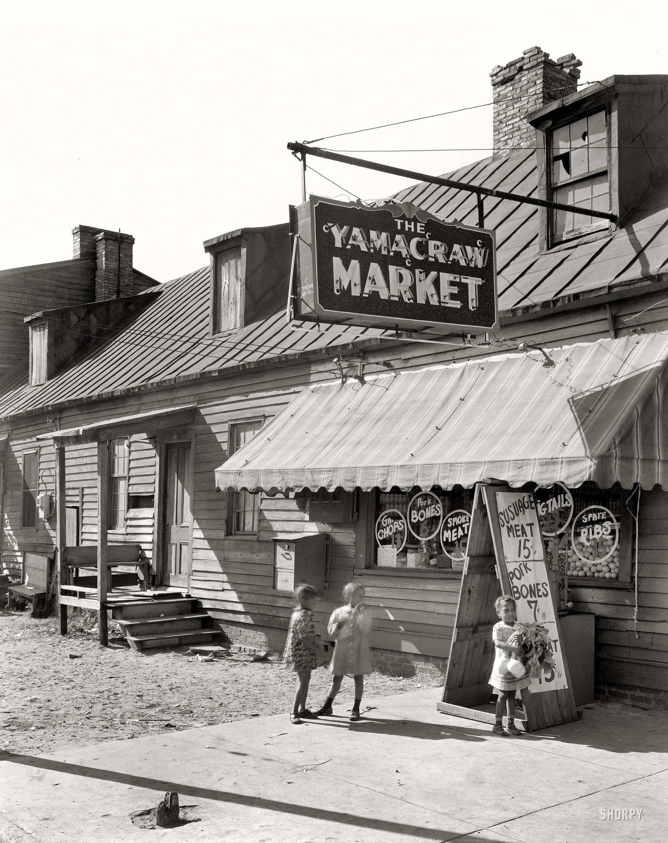 Savannah Georgia Circa 1939 Yamacraw Market Fahm