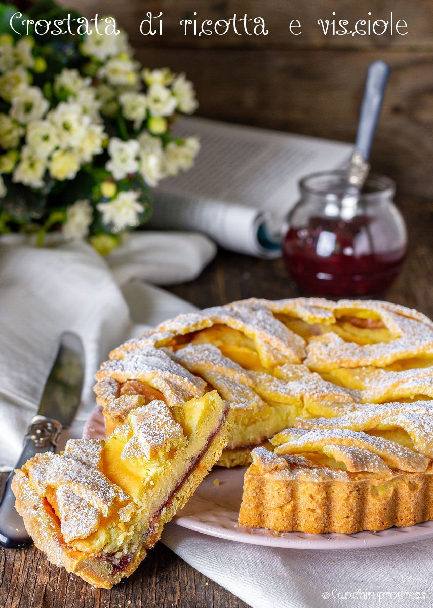 Photo of Crostata di ricotta e visciole. La ricetta originale romana.