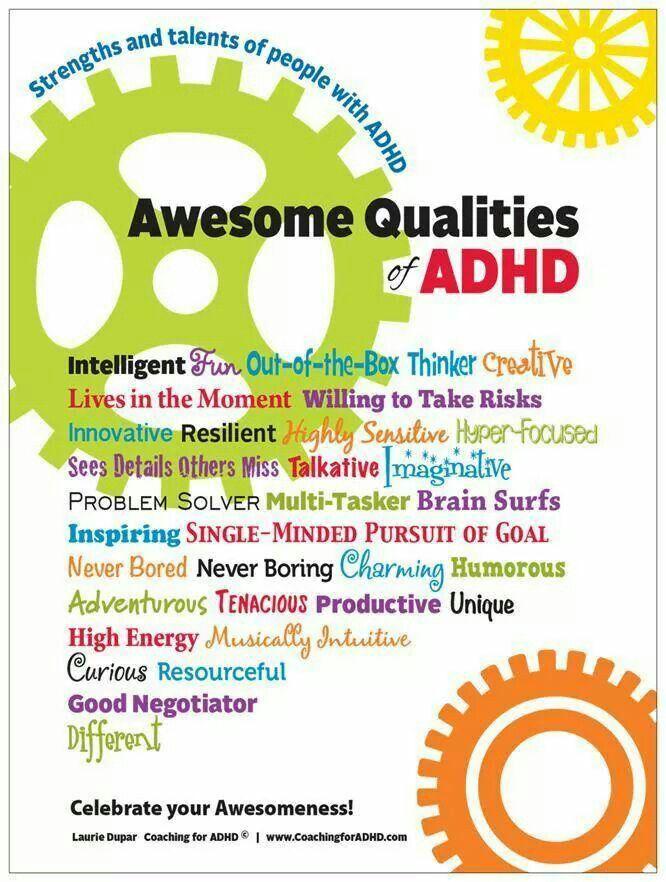 An Upside Of Having Adhd Outside Box >> Adhd Positives Adhd Adhd Kids Adhd Adhd Brain