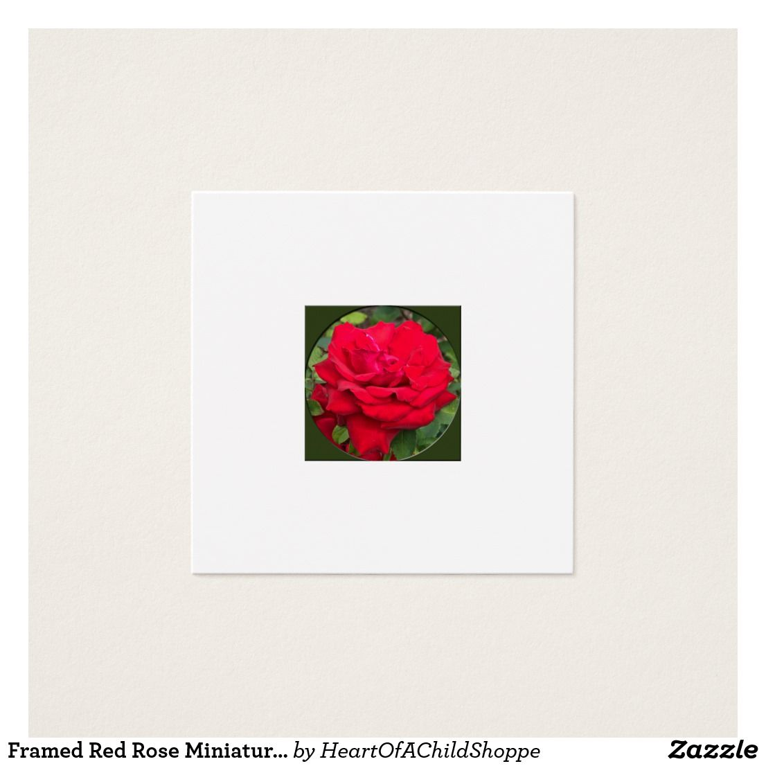 Framed red rose miniature dollhouse art square business card framed red rose miniature dollhouse art square business card trim this card frame it magicingreecefo Gallery