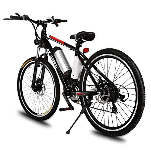 Ancheer Power Plus Electric Mountain Bike With Removable Lithium Ion Battery Battery Charger And Adjustable Chrome Handlebars Electric Mountain Bike Comfort Bike Electric Bike Review