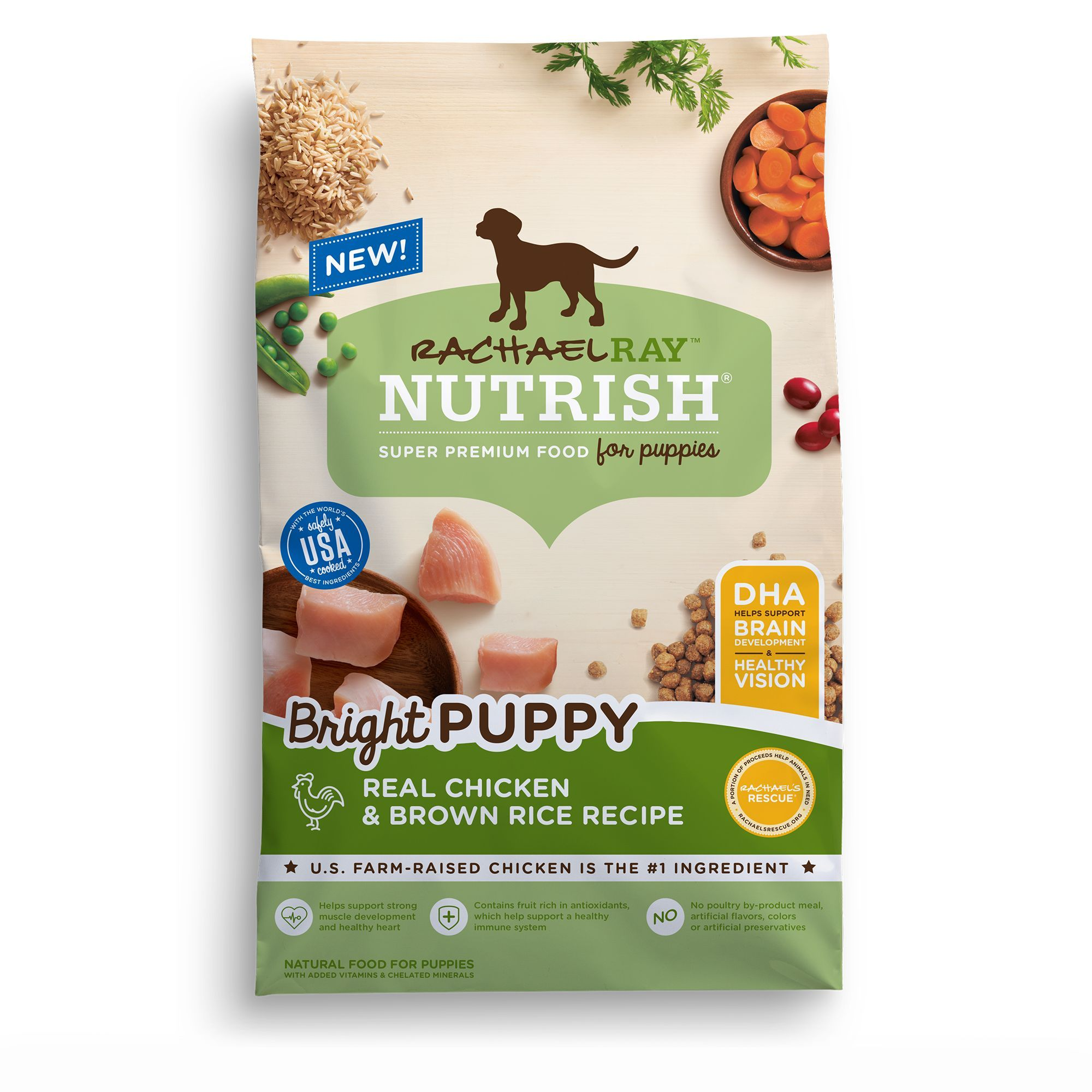 Rachael Ray Nutrish Bright Puppy Food Natural Chicken And