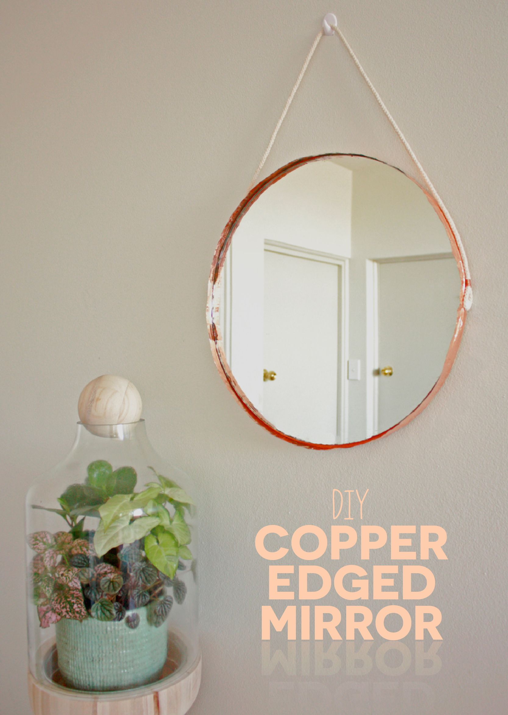 This diy copper edge mirror is easier than you think and uses