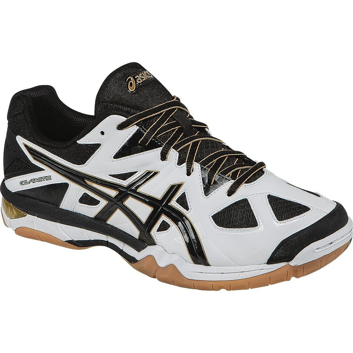 Asics Gel Tactic Men S Volleyball Shoes White Black Pale Gold Mens Volleyball Shoes Asics Mizuno Shoes