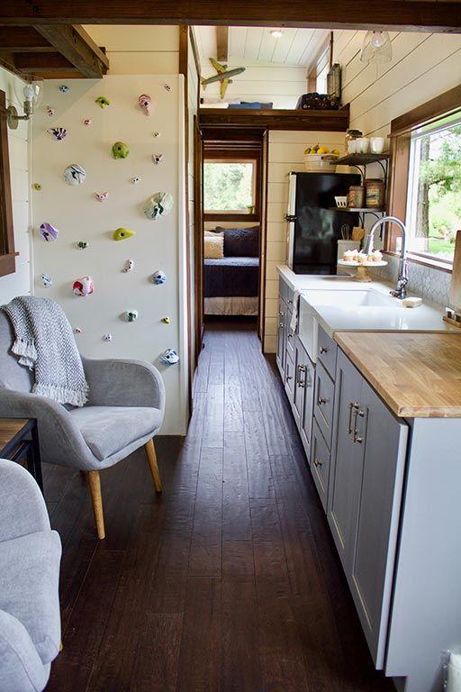 Tiny Traveling Farmhouse | Tiny Heirloom Luxury Custom Built Tiny Homes · Rock  Climbing WallsBasketball ...