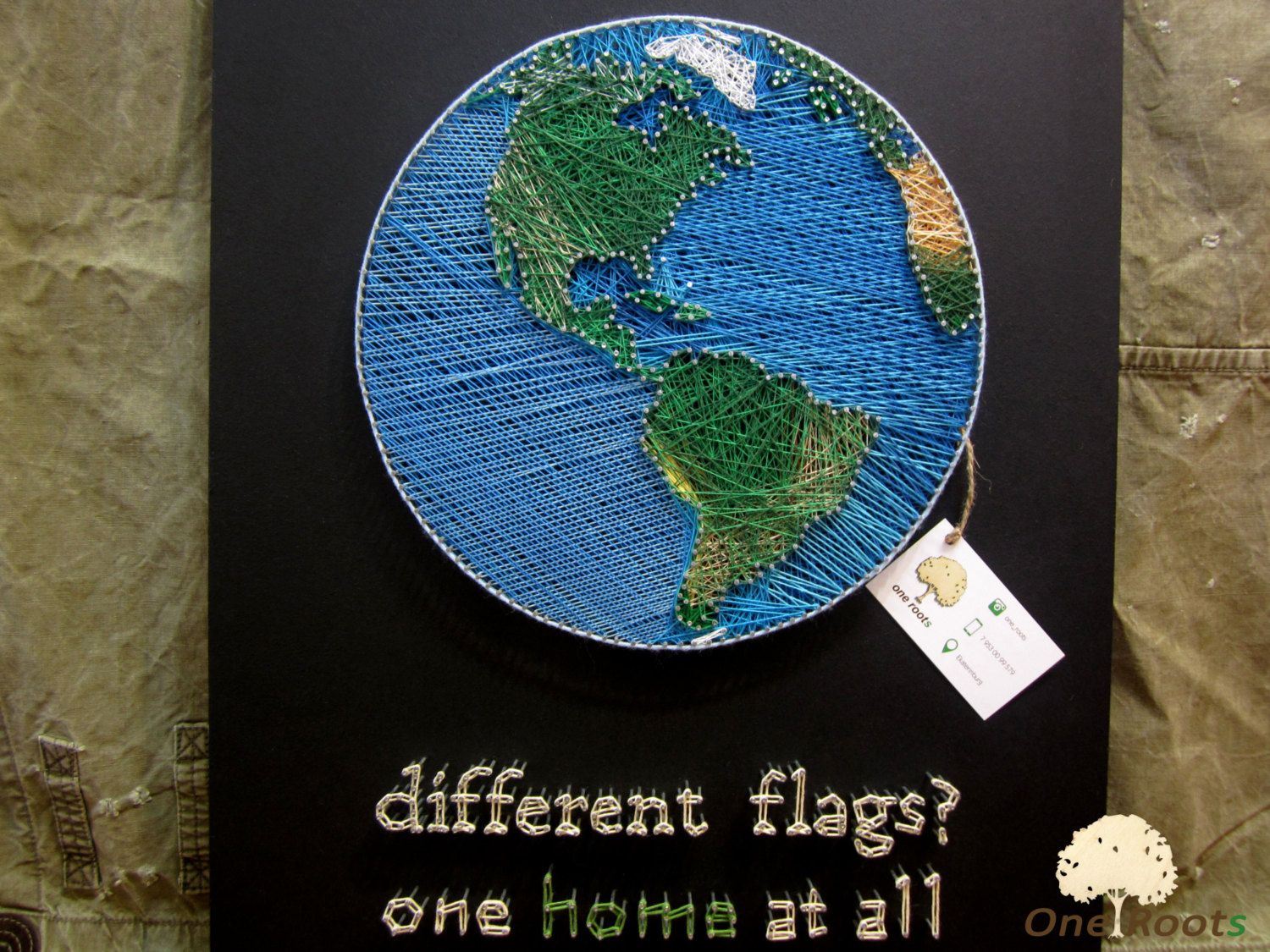 String art planet earth wall art sign world map wall decor home string art planet earth wall art sign world map oneroots gumiabroncs Gallery