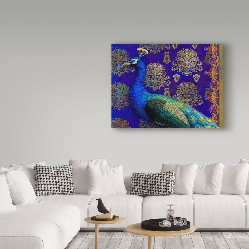 Indian Peacock Graphic Art Print On Wrapped Canvas Graphic Art Print Art Graphic Art