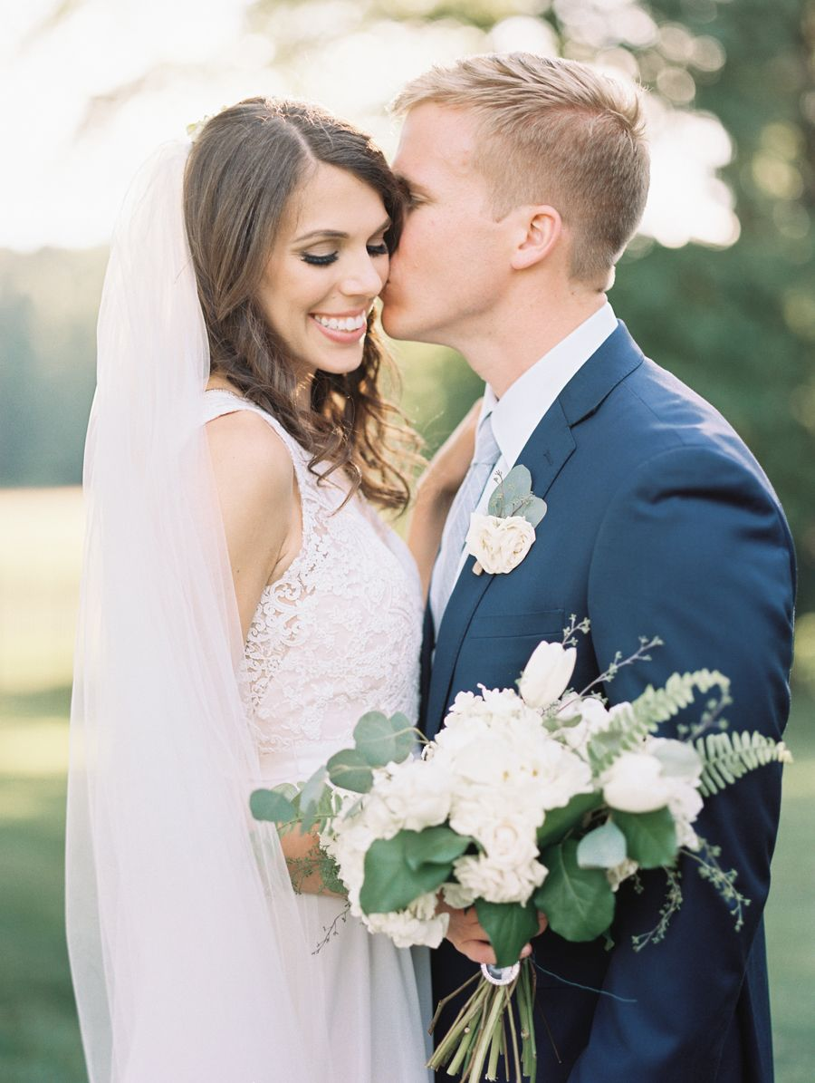 A classic garden wedding with an unexpected pop of floral dusty