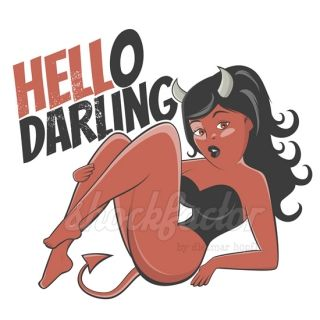 Hello Darling - shockfactor.de dietmar höpfl devil cartoon girl