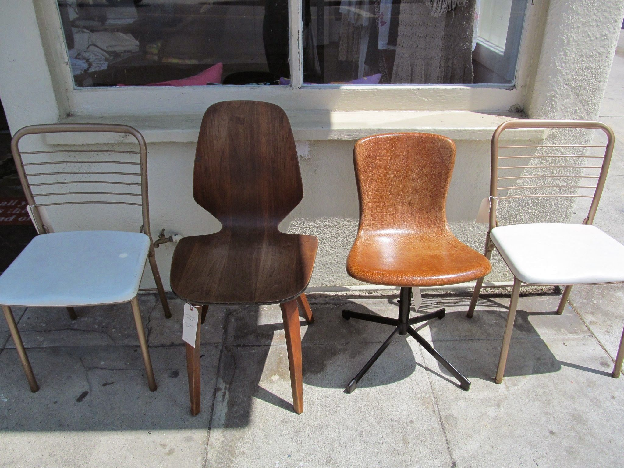 IHWT Vintage Mid Century Modern Chairs Hamilton Cosco folding