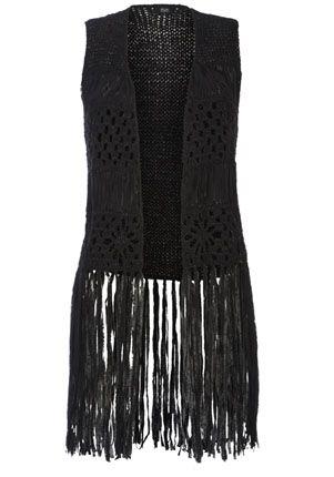FF Tassel Crochet Waistcoat