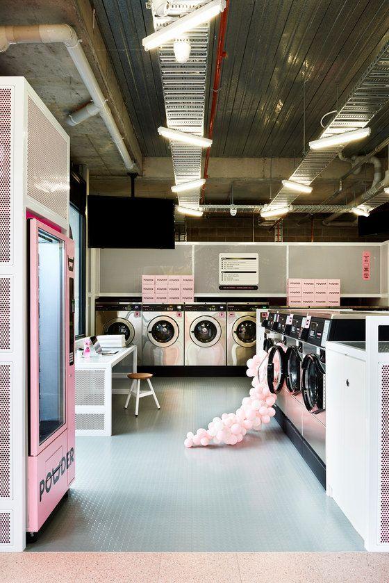 Powder Laundry Laundry Shop Laundry Design Laundromat