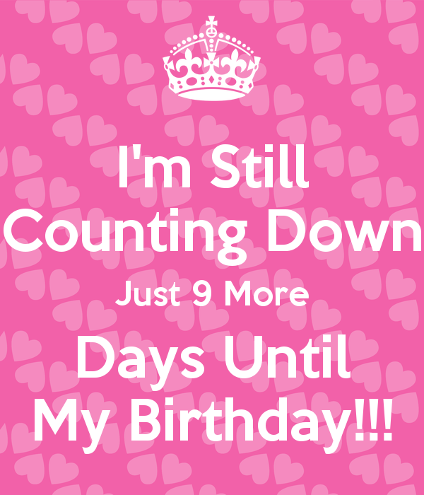 Image Result For 9 Days My Birthday In Pink