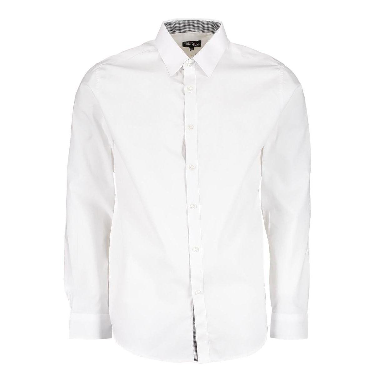 Galaxy By Harvic Mens Long Sleeve Solid Slim Fit Dress Shirts Reviews Casual Button Down Shirts Men Macy S In 2021 White Shirt Men Button Shirts Men Mens Shirt Dress [ 1221 x 1200 Pixel ]