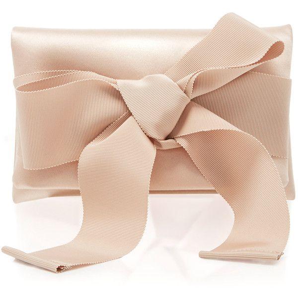 Oscar de la Renta Petite Evening Clutch (€1.285) ❤ liked on Polyvore featuring bags, handbags, clutches, purses, bolsas, nude, holiday purse, special occasion handbags, special occasion clutches and evening handbags