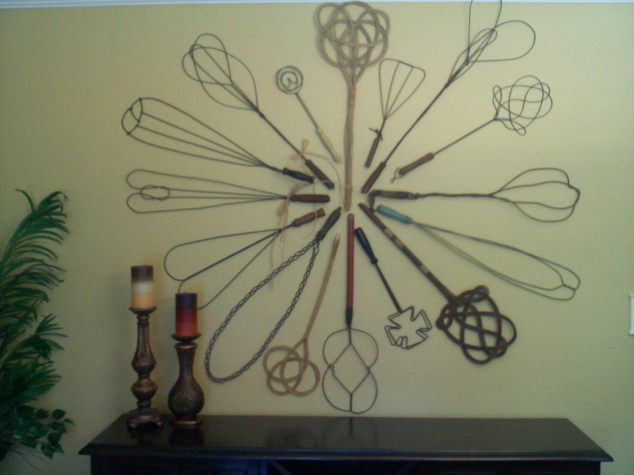 These Are Some Of My Rug Beaters On Display On Our Dining Room Wall Primitive Decorating Farm Decor Rustic Style Decor