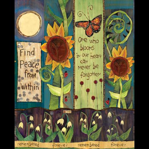 Find Peace Bereavement Art Pole 20 Art Pole Garden Poles Peace Art