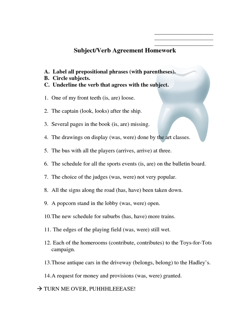 Workbooks subject verb agreement worksheets 9th grade : subject verb agreement sheet | GRAMMAR | Pinterest | Subject verb ...