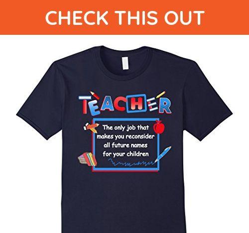 Mens Beetee Teacher Reconsiders Children S Names Funny T Shirt Xl Navy Careers