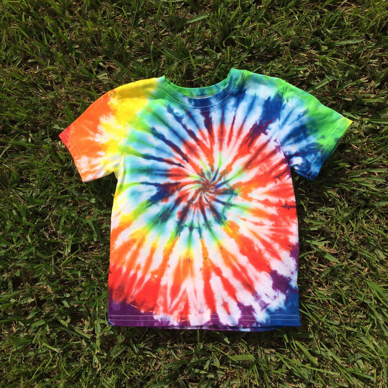 HIppie Kids Tie Dye Dyed Youth Tee Short Sleeve Tshirt XS Small Medium XL