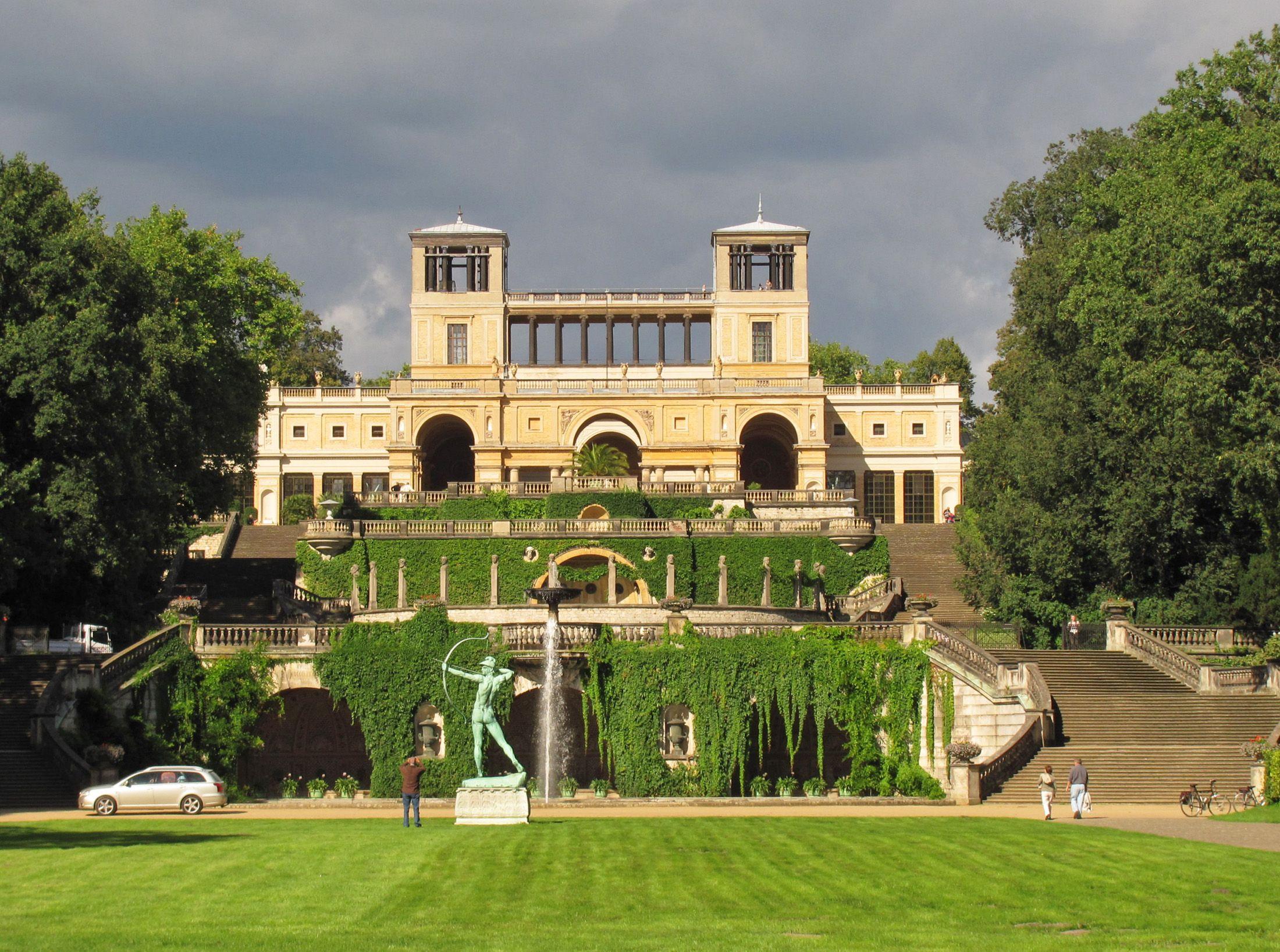 Die Orangerie Im Park Von Sanssouci Parks Potsdam Bergpark Wilhelmshohe