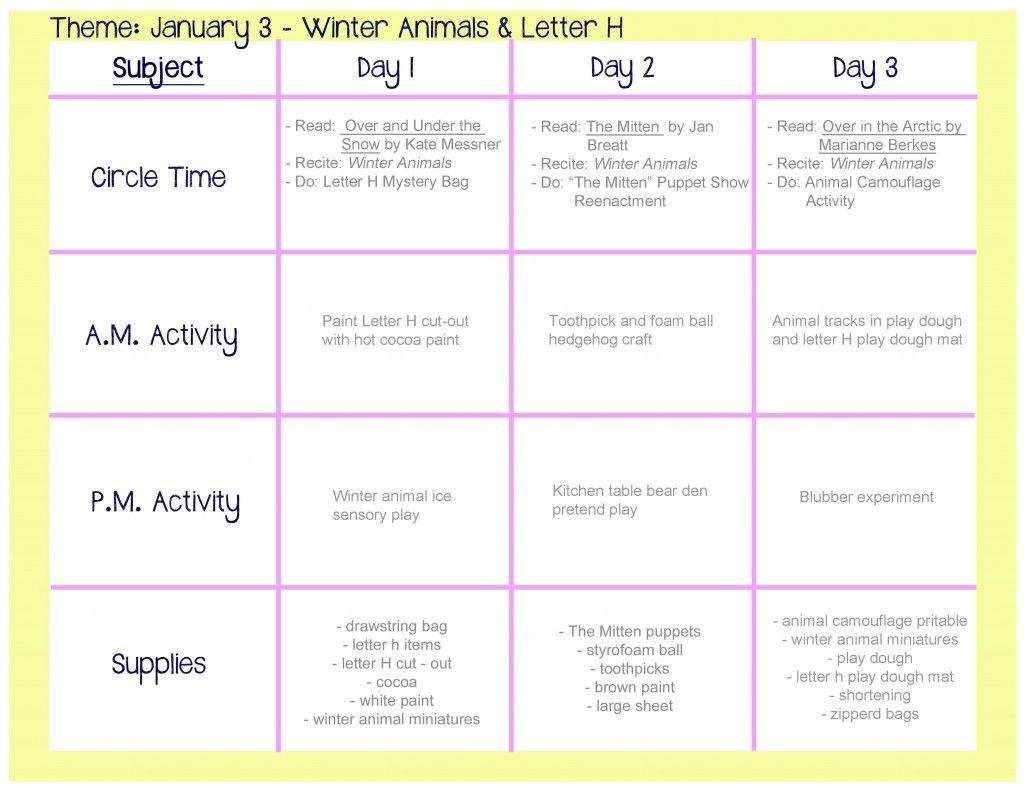 Winter Animals Lesson Plan | preschool | Pinterest