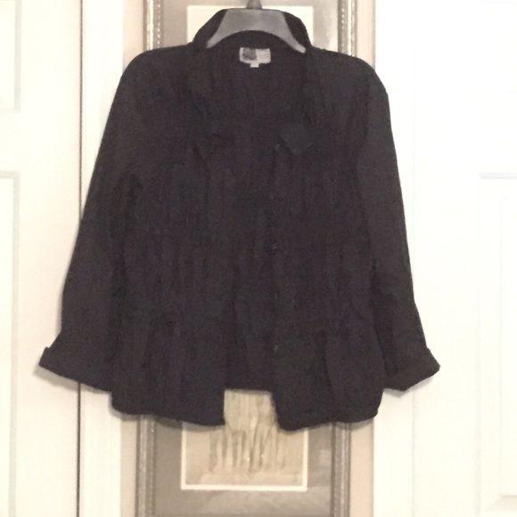 Black button down jacket Black button down jacket Habitat Jackets & Coats