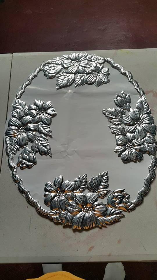marcos para espejo | arte en repujado -sory | Pinterest | Marcos ...